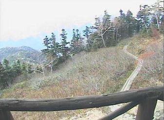 西穂山荘のライブカメラ