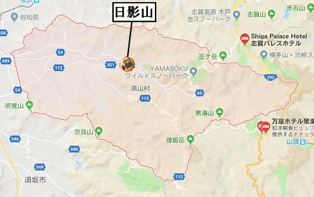 高山村ライブカメラ地図道路