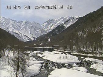 白馬村松川のライブカメラ