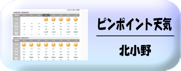 北小野の天気