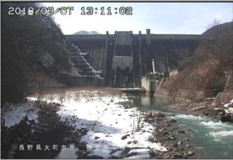 大町市吊り橋のライブカメラ