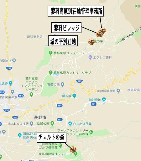 蓼科高原別荘地地図