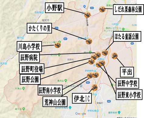 辰野町地図