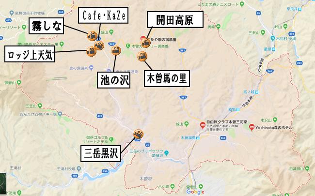開田高原地図