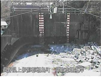 県取水堰左岸のライブカメラ支川