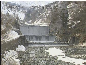 小谷村大所川のライブカメラ
