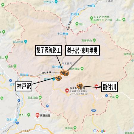 南木曽町地図河川