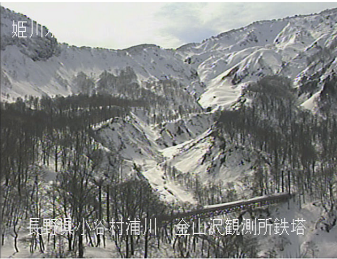 小谷村金山沢観測所のライブカメラ