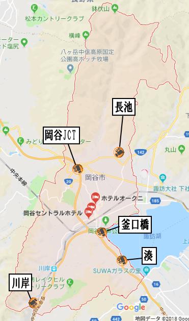 岡谷市地図