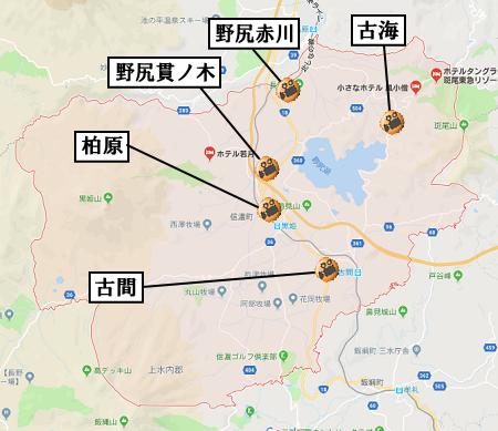 信濃町地図