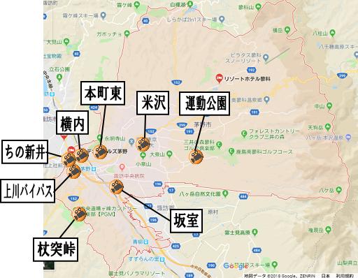 茅野市地図