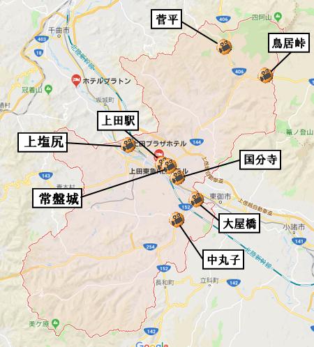 上田市地図
