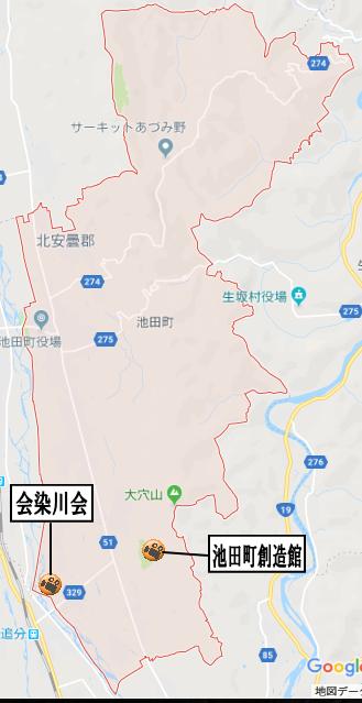 池田町の地図