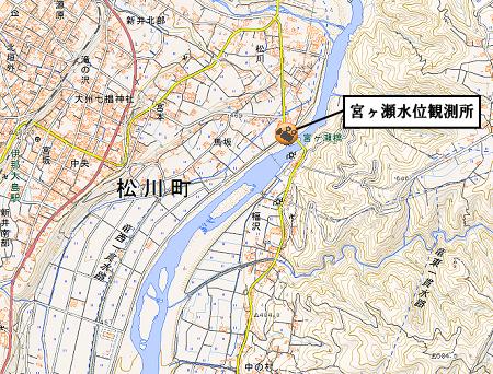 松川町河川のライブカメラ