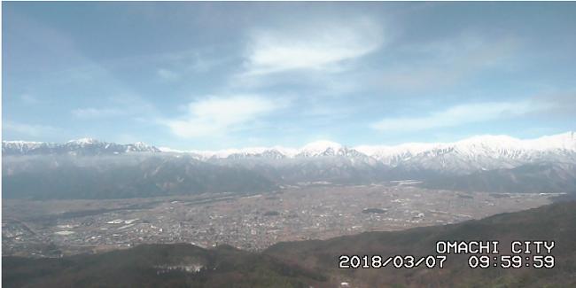 鷹狩山山頂のライブカメラ