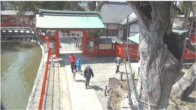 生島足島神社の東門ライブカメラ