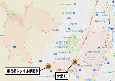 南箕輪村地図