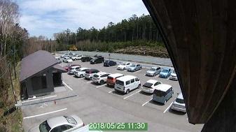 白駒池駐車場トイレ側ライブカメラ