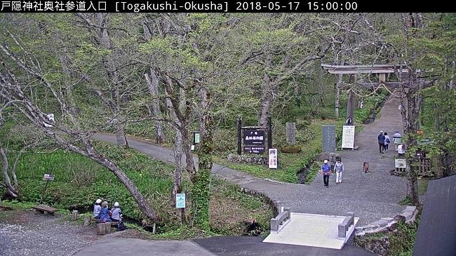 戸隠神社奥社参道入口ライブカメラ