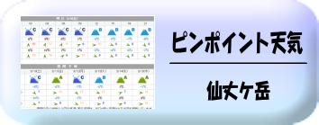 仙丈ケ岳天気