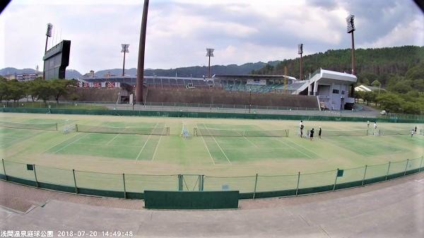 浅間温泉庭球公園のLIVEカメラ